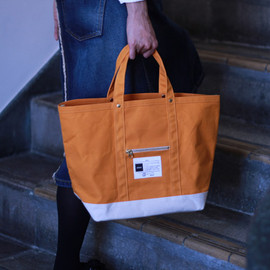 difott - two tone zip tote bag