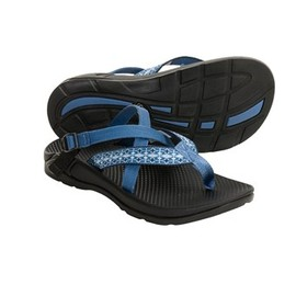 chaco - Chaco Hipthong EcoTread Sandals - Recycled Materials, Flip-Flops (For Women) in Ceramic Blue