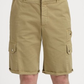 BAND OF OUTSIDERS - Khaki Cargo Cut-off Chino Short