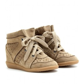 Isabel Marant - BOBBY WEDGE SUEDE SNEAKERS
