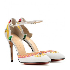 Charlotte Olympia - Celebration Celia embroidered pumps