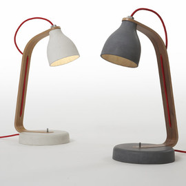 Benjamin Hubert - Cast concrete desk light