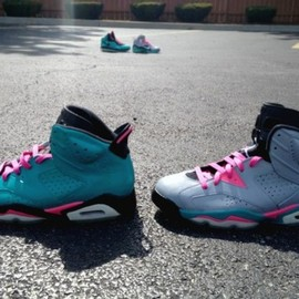 Air Jordan - Air Jordan VI South Beach Miami Vice Customs