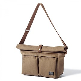 "HEAD PORTER - ""BANFF"" SHOULDER BAG (L) BROWN"