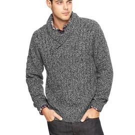 GAP - Shawlneck cableknit sweater
