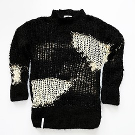 AKA SIX - NEW SPRING KNIT JUMPER/BLACK with WHITE PATCHES