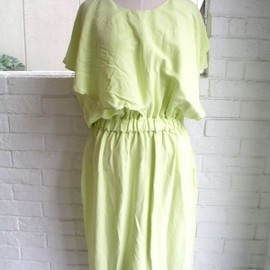 ANNTIAN - ANNTIAN FLUO YELLOW DRESS