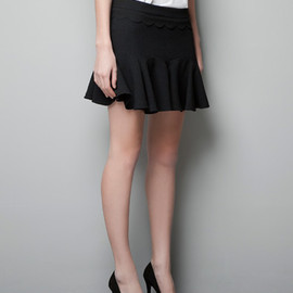 ZARA - FRILLED SKIRT