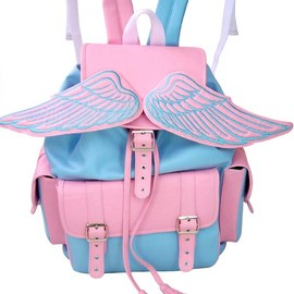 LOSTMANNEQUIN - Winged Baby Blue and Pink Sid Backpack