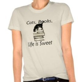 Cats,Books, Life is Sweet T-shirt