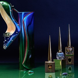 Christian Louboutin - Christian Louboutin Limited Edition Scarabee II Violet Blue Nail Colour-1