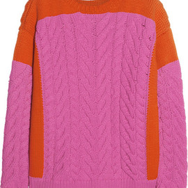 Stella McCartney - Chunky cable-knit cotton-blend sweater