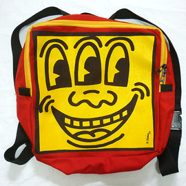 Keith Haring - 3-Eyed Face Backpack