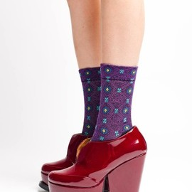Ayame - Pattern Short Socks