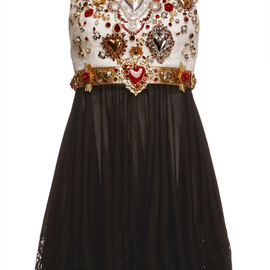 DOLCE&GABBANA - SS2015 Sacred Heart Embellished Sleeveless Combo Dress
