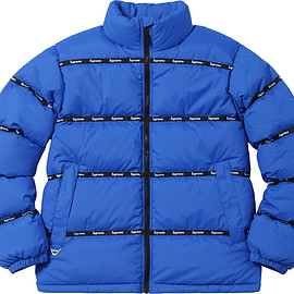 Supreme - Logo Tape Puffy Jacket