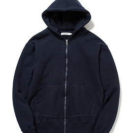 nonnative - DWELLER FULL ZIP HOODY COTTON SWEAT