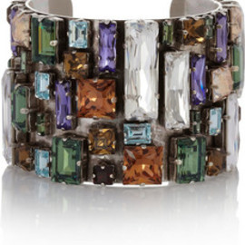 Philippe Audibert - Bouquet silver-plated Swarovski crystal cuff