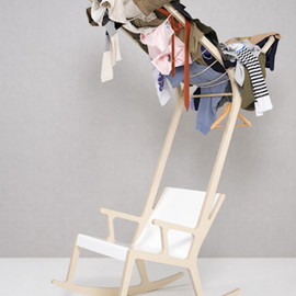 Seung Yong Song clothes drying rocker chair