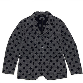 ENGINEERED GARMENTS - Bedford Jacket-Polka Dot Jacquard-Grey×Navy