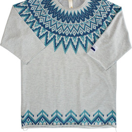 ficouture - NORDIC SEVENTH SLEEVE T-SHIRTS / L.GREY