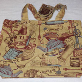 Trader Joe's - New Vintage Retro Eco Reusable Shopping Grocery Bag