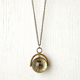 Free People - Sapphire Globe Necklace