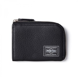 "HEAD PORTER - ""CALVI"" COIN WALLET BLACK"