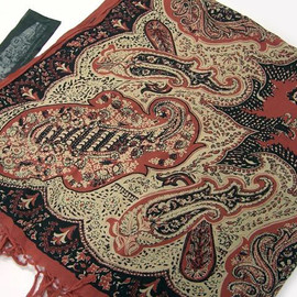 OLD JOE & Co. - 10S/S PAISLEY STOLE (VERMILION)