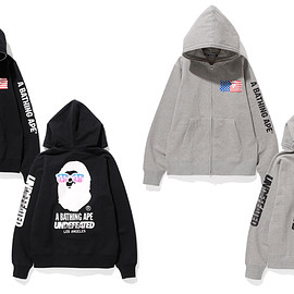 UNDEFEATED, BAPE - UNDEFEATED X BAPE LOS ANGELES FULL ZIP HOODY