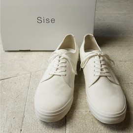 sise - SUEDE SNEAKER(WHITE/AC003)