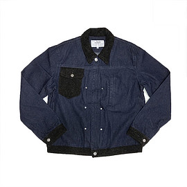 PEEL&LIFT - tweed collar jean jacket