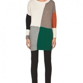 Boy. by Band of Outsiders - Blanket Dropped Sleeve Sweater in Multi  2012AW