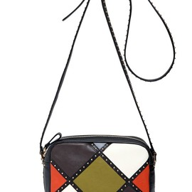 VALENTINO - FW2014 DOTCOM ARLECCHINO LEATHER SHOULDER BAG