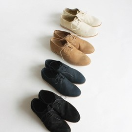 evam eva - nubuck slip-on shoes