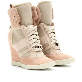 Chloé - SUEDE HIGH-TOP WEDGE SNEAKERS