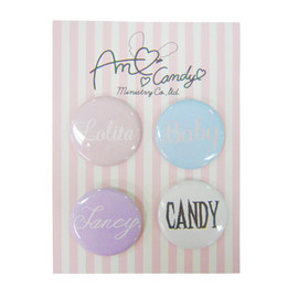 "AMO x Candy Stripper - ""Ideal Girl"" Badge Set"
