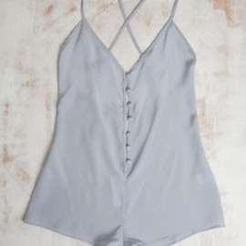 Langley - Silk romper in pale blue, by Langley.
