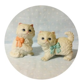 Love Letter - Vintage】1960' Homco Kitten Figurines