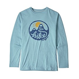 patagonia - Boys' Long-Sleeved Capilene® Cool Daily T-Shirt, Switchback Hike: Big Sky Blue X-Dye (SHBX)