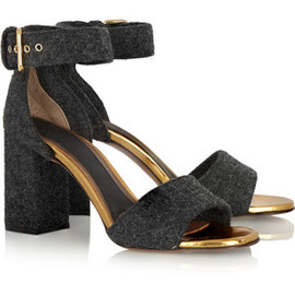 MARNI - Marni Leather-trimmed felt sandals
