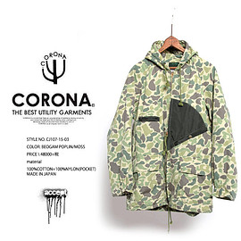 COLONA - CJ107 HUNTER HOODED COAT MOSS ハンターコート Y:アクセプト accept