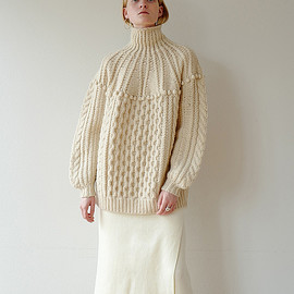 clane - ARCH CABLE HAND KNIT