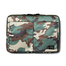 "HEAD PORTER - ""JUNGLE"" LAPTOP CASE 13inch KHAKI"