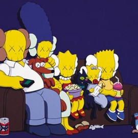 Kaws - Simpsons Family Painting