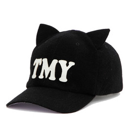 "MILKFED. x Tommy - BASE BALL CAP ""TMY""【BLACK】"