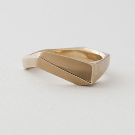 tortue - reflection silver ring / SILVER+K18GOLD PLATED