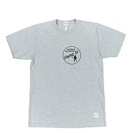 NEPENTHES NEW YORK - Printed T-shirt-Ewing-Grey