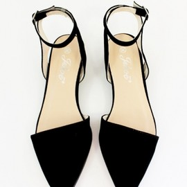 pixie market - Pointy ankle strap flats