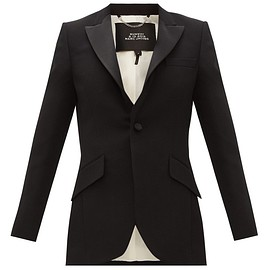 MARC JACOBS - FW2019 Single-breasted satin-trim wool tuxedo jacket